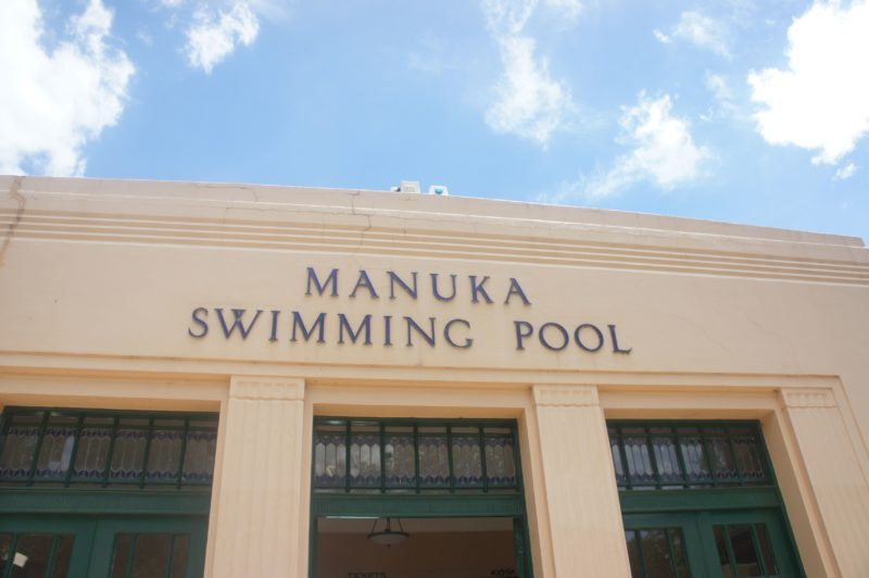 Manuka Swimming Pool entrance