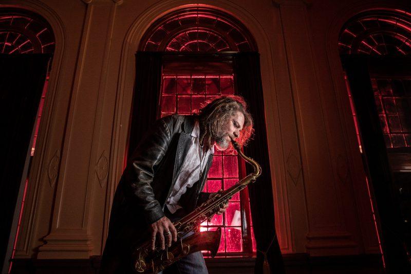 John Mackey playing saxophone