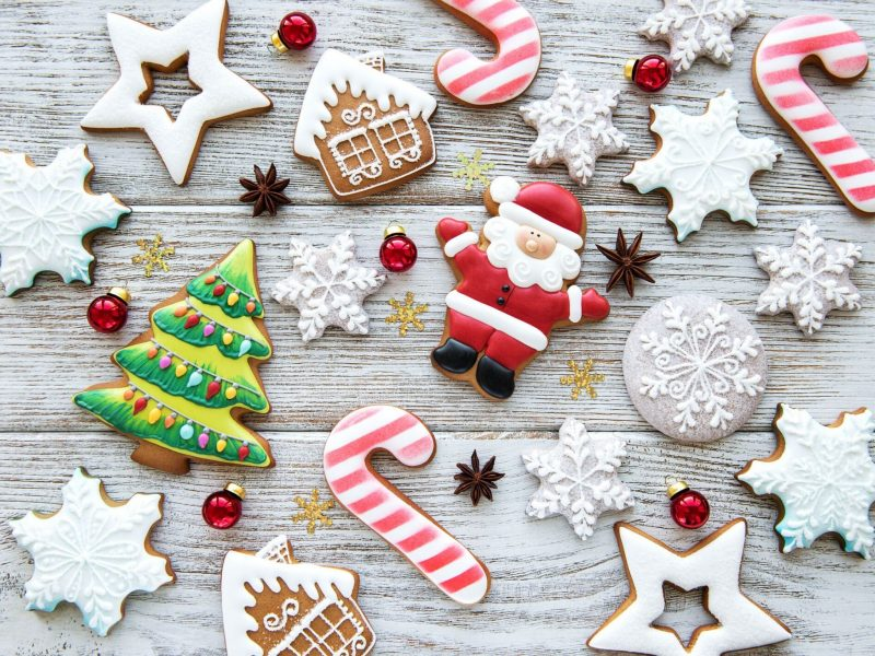 christmas cookies and candy canes