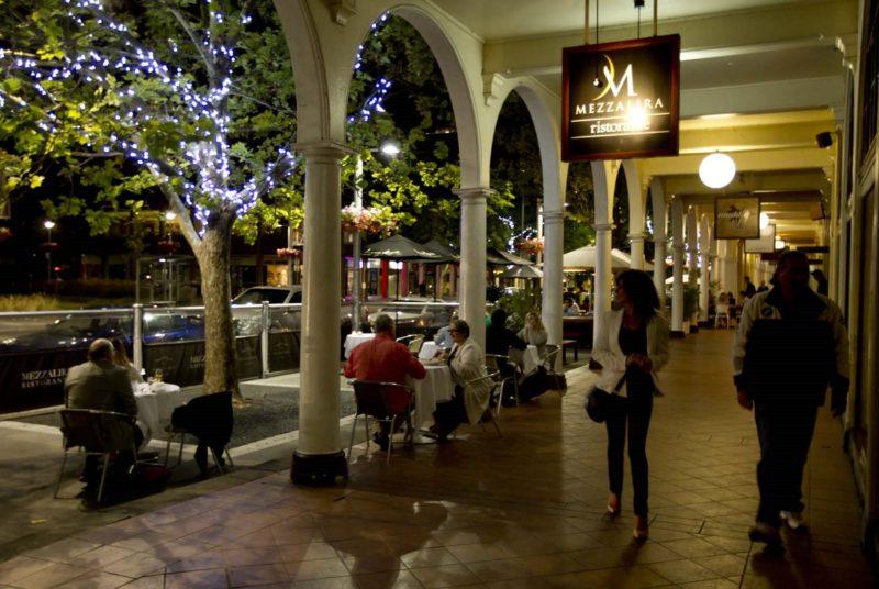 Mezzalira entrance at night