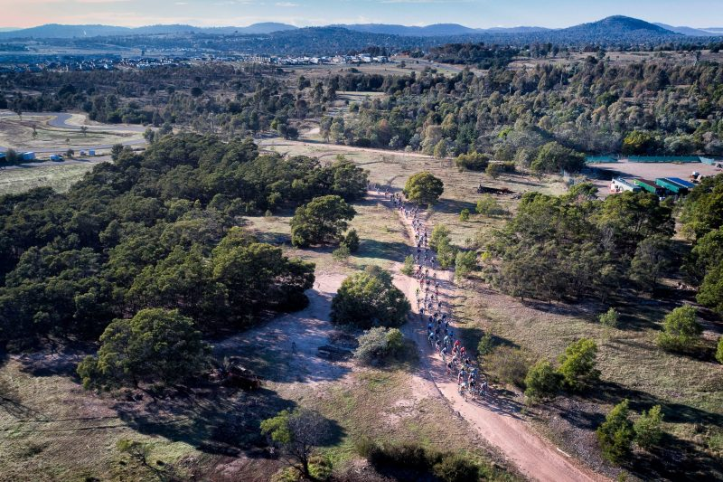 MTB crowd racing at Stromlo Forest Park.