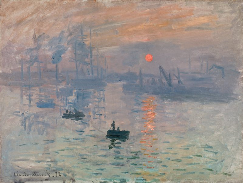Claude Monet Impression, Soleil Levant 1872 Paris, Musée Marmottan Monet
