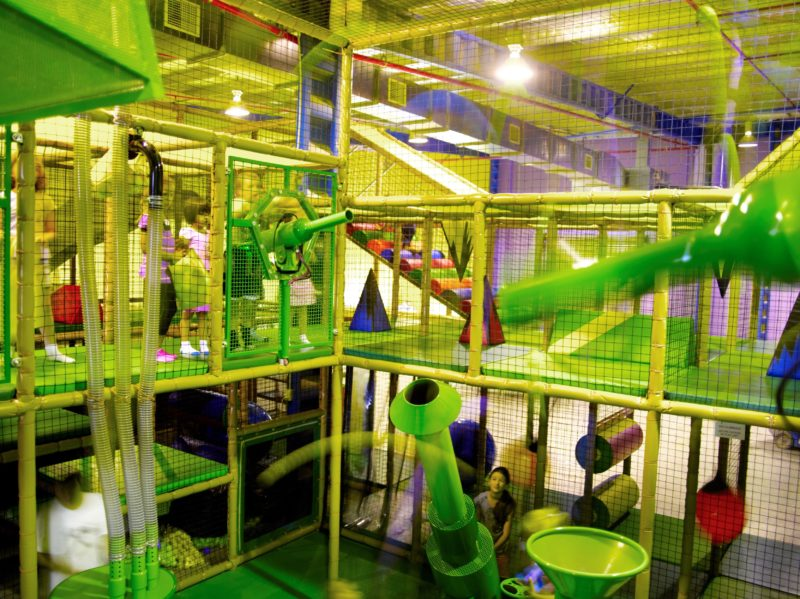 The play area at Monkey Mania