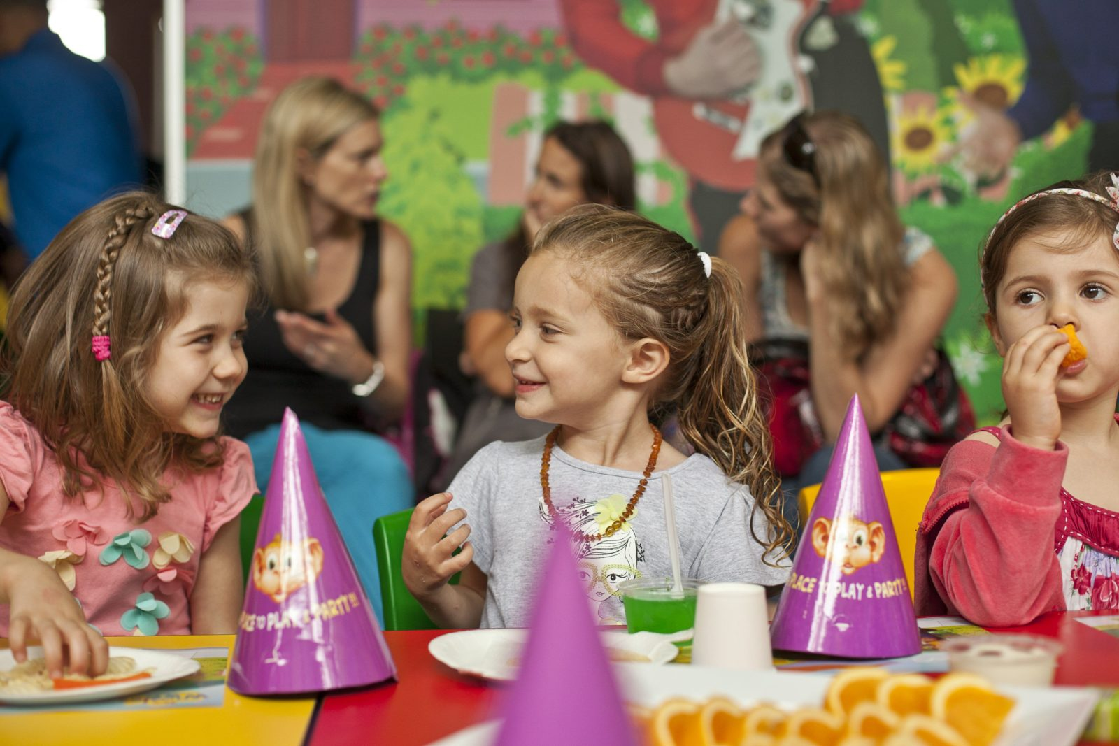 Kids enjoying a party at Monkey Mania