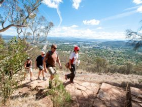 Hikers near the top of Mount Ainslie