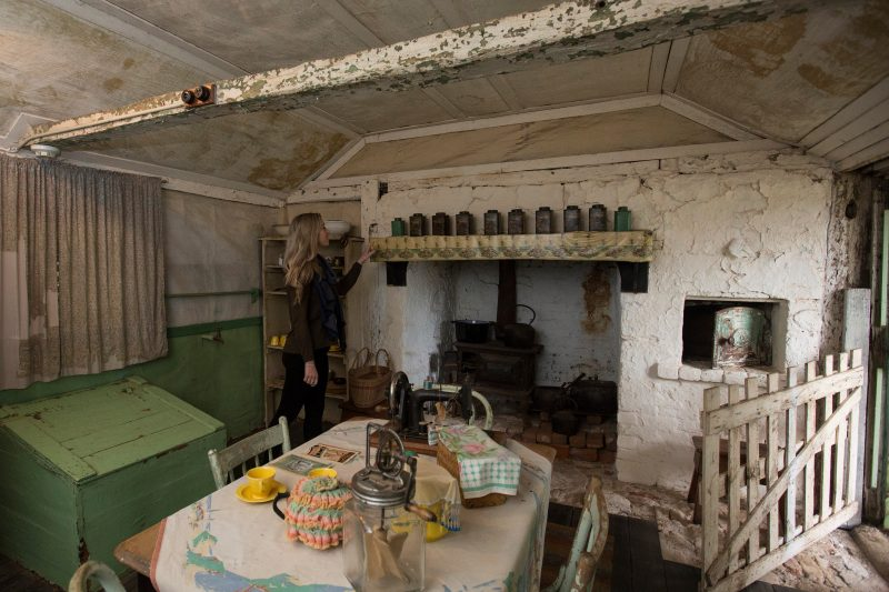 old style kitchen with fireplace