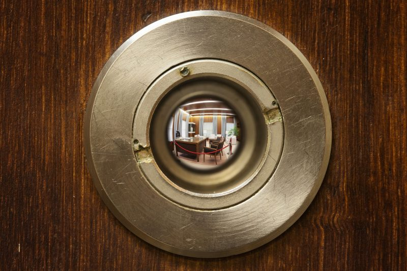 Keyhole look into the Prime Ministers' suite