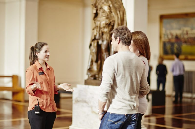 Tour guide sharing her knowledge