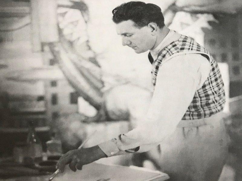 Napier Waller in Melbourne, c. 1933–34. (John Cyril Caton, image courtesy of Susan Kellett).