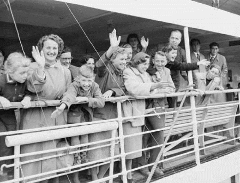 50,000th Dutch migrant arrives in Australia aboard the ship Sibajak. NAA: A12111, 1/1954/4/53