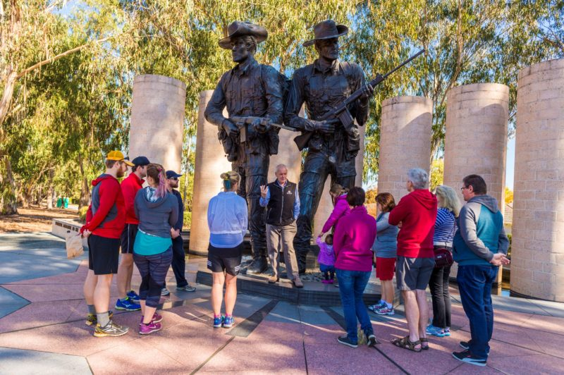 Volunteer Guided walk on ANZAC Parade