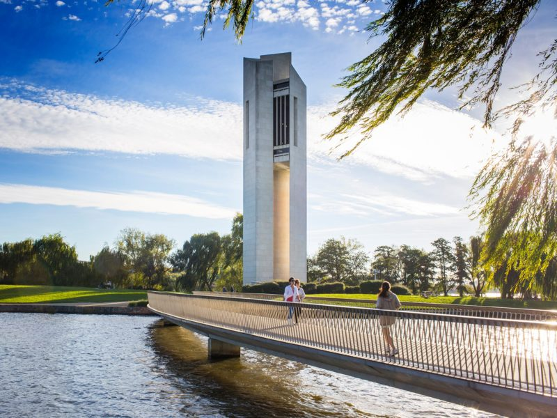 The National Carillon on an autumn day