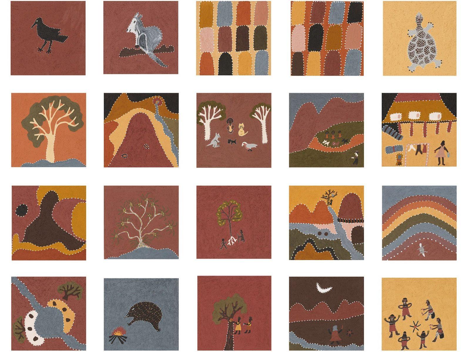 Ngalim-Ngalimbooroo Ngagenybe (detail), 2018 by Shirley Purdie.