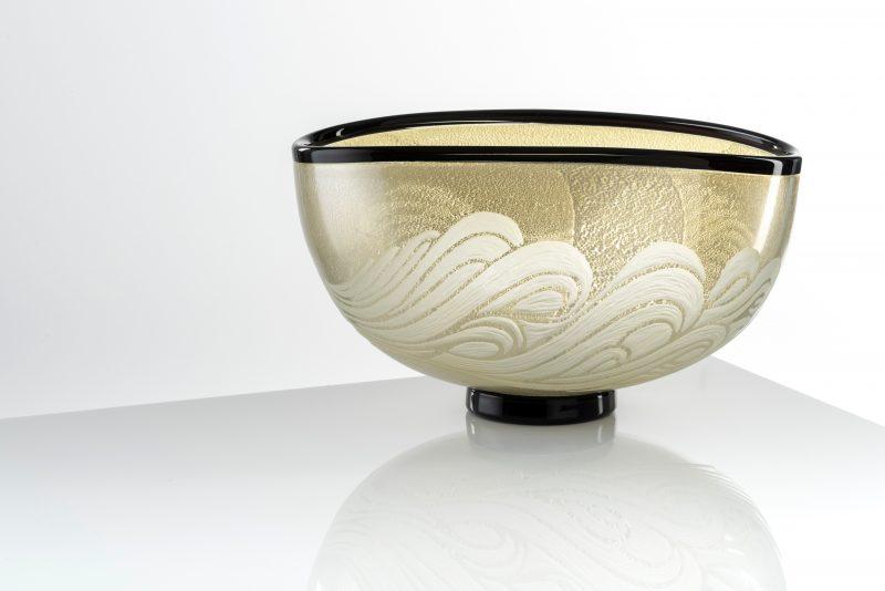 """Evening Surge - bowl form"" by Benjamin Edols & Kathy Elliott"