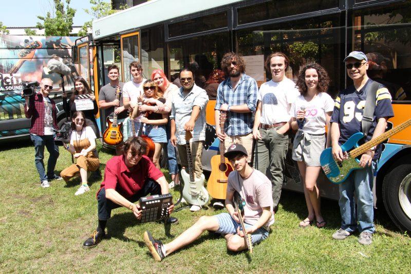 CIT students transform Action buses for Orange Wolves festival, Canberra 26 - 28 November 2019