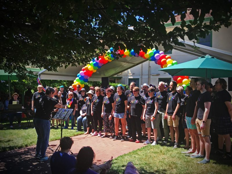 Choir singing at Fair Day
