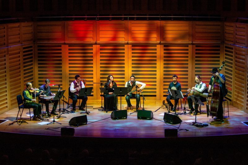 Oxford Maqam musicians perform on stage