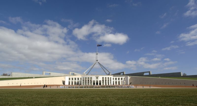 Image showing front view of Parliament House