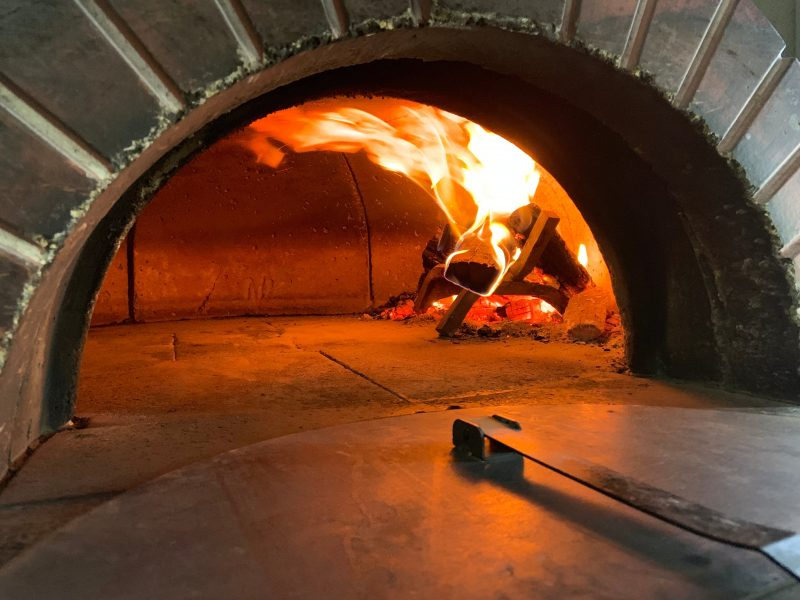 Wood Fired Pizza in an Imported Oven
