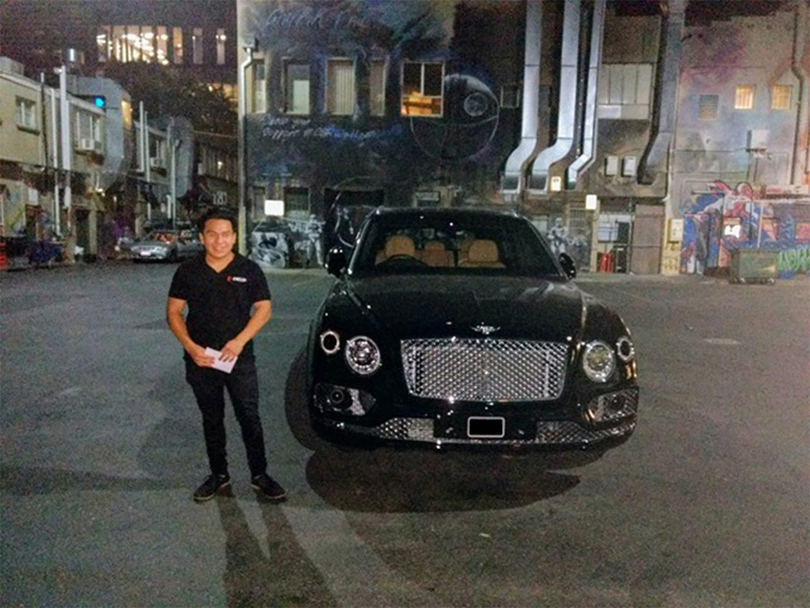 PKUP driver about to drive a Bentley.