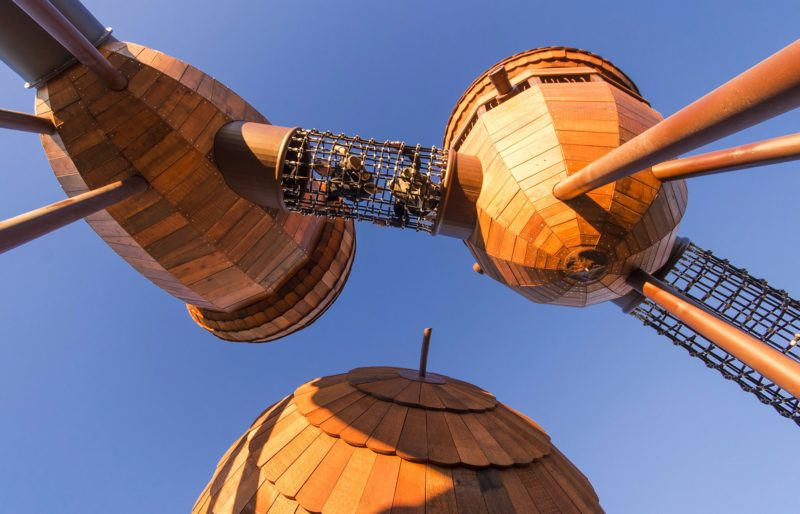 Playground acorns and net tunnel.