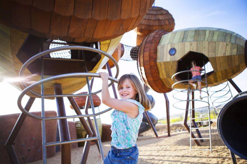 Kids having fun at Pod Playground