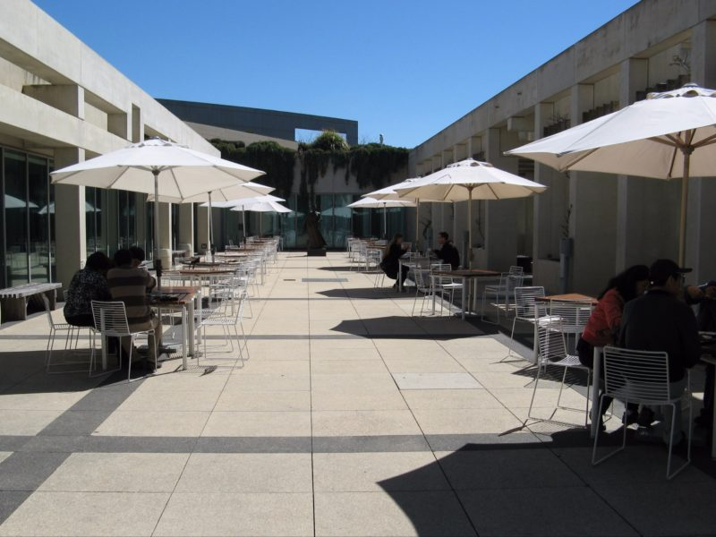 Queens Terrace Cafe courtyard