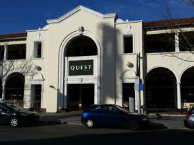 Front of Quest Canberra in the historic Melbourne Building