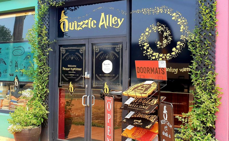 The shopfront of Quizzic Alley in Fyshwick - the only dedicated Harry Potter store in NSW/ACT