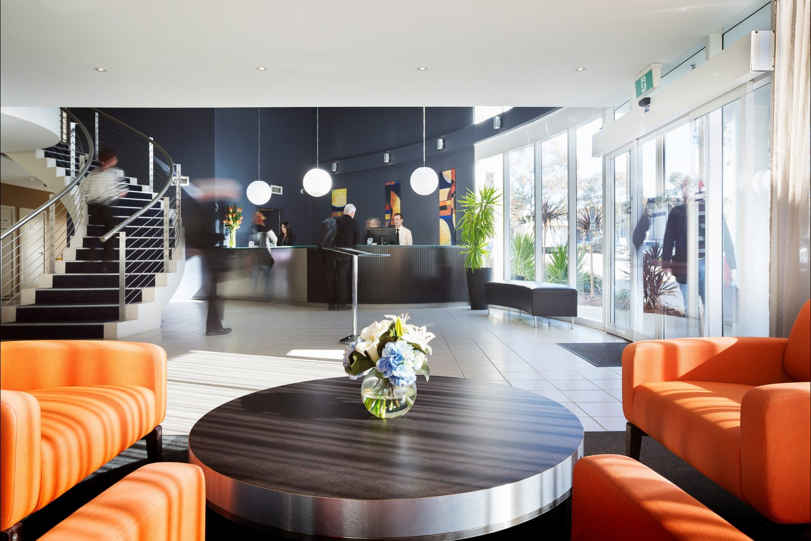 Interior of the Premier Hotel Reception