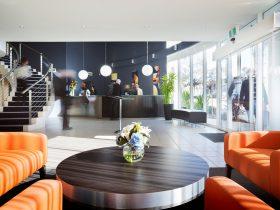 Interior of the Premier Hotel Reception