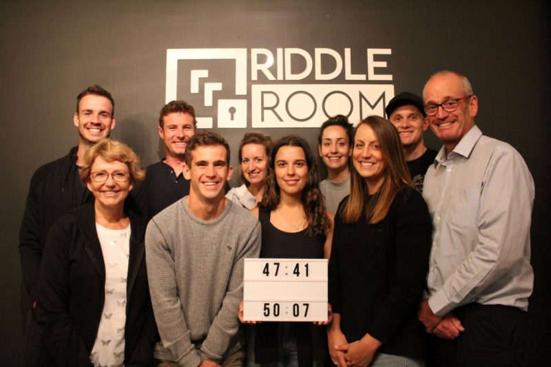 Riddle Room participants with their score
