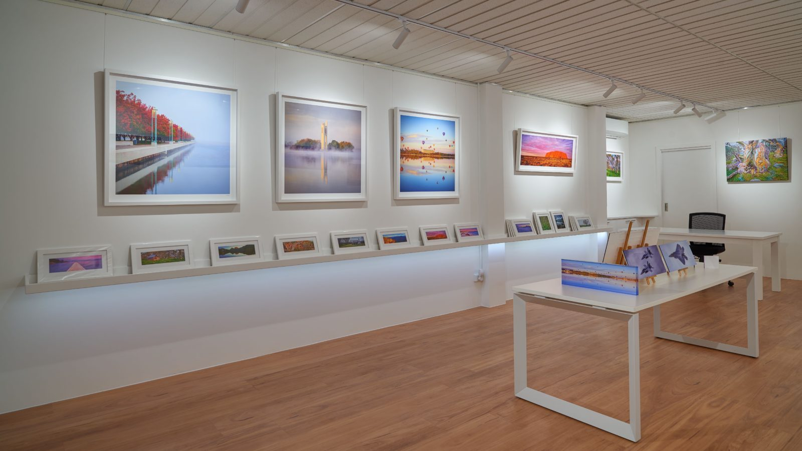 Framed prints on display at Scott Leggo Gallery
