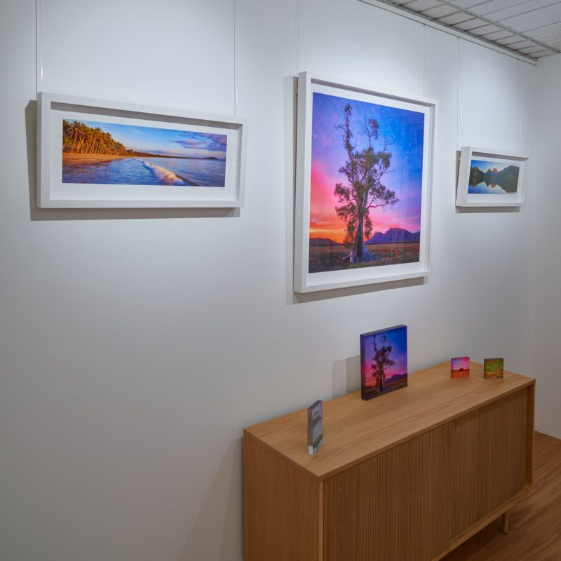 Framed prints on display within Scott Leggo Gallery
