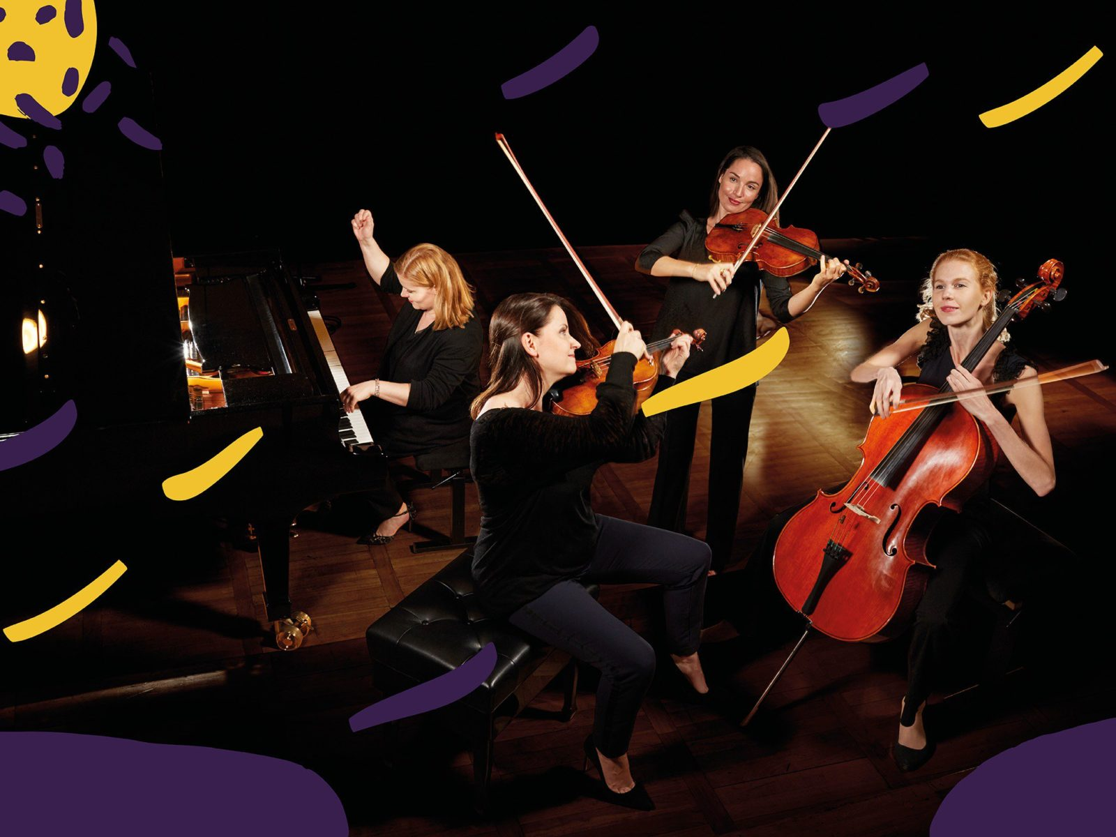 A new classical supergroup of four leading European soloists play the great piano quartets.