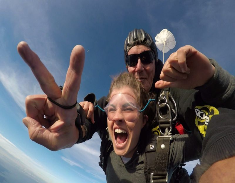 Tandem skydive Canberra city. Feel the rush