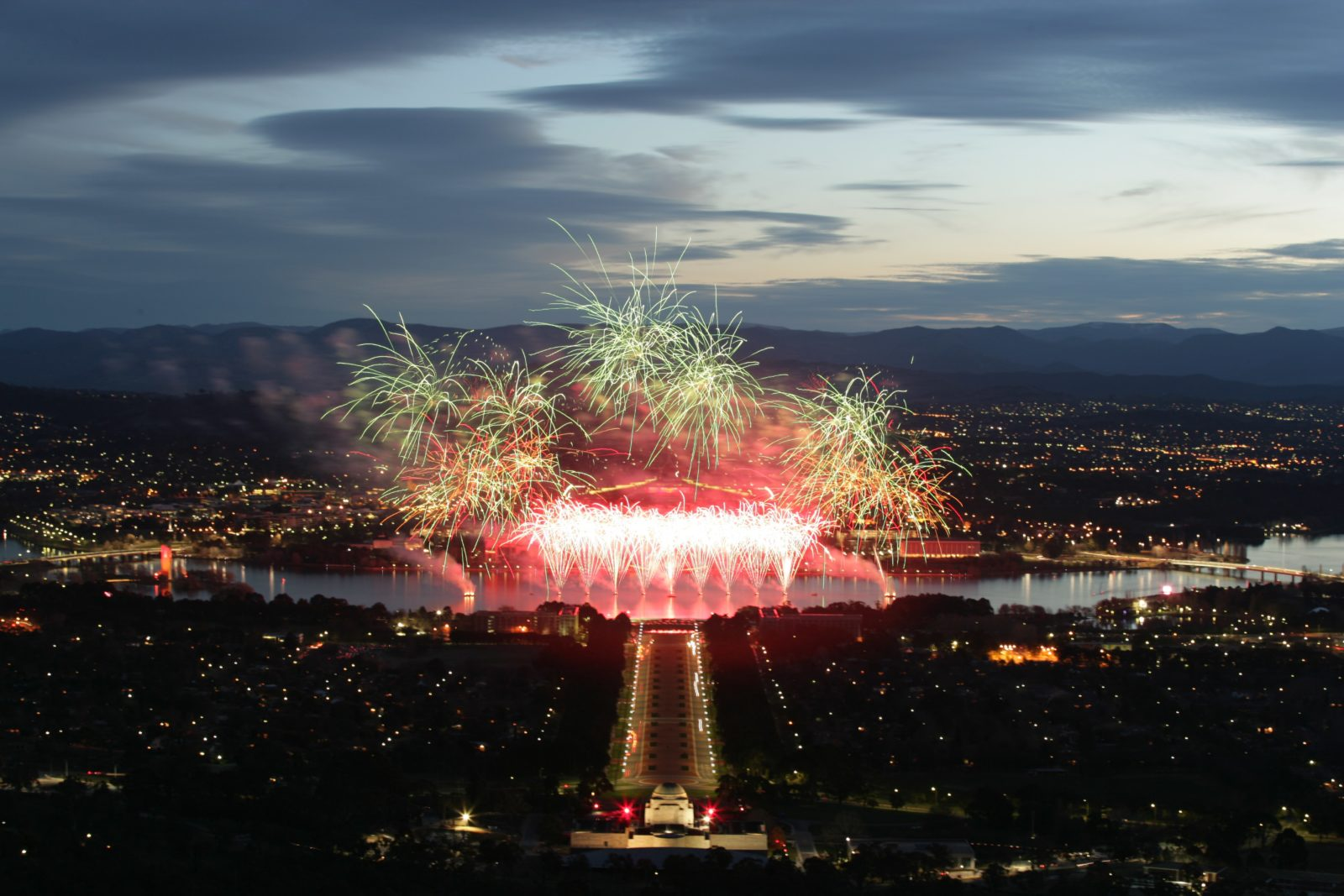 Fireworks over Lake Burley Griffin