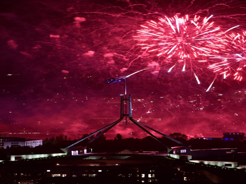 Fireworks over Parliament House