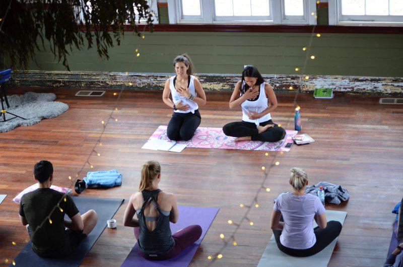 Breath practice at Soul Sunday