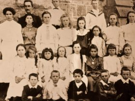 Historic photograph of school children