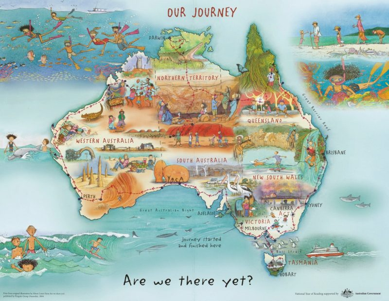 Alison Lester, Our Journey: Are We There Yet?, book published by Penguin