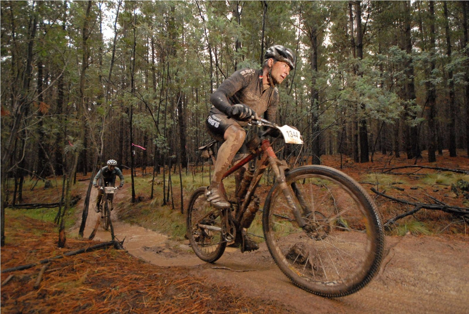 People riding mountain bikes at Stromlo Forest Park