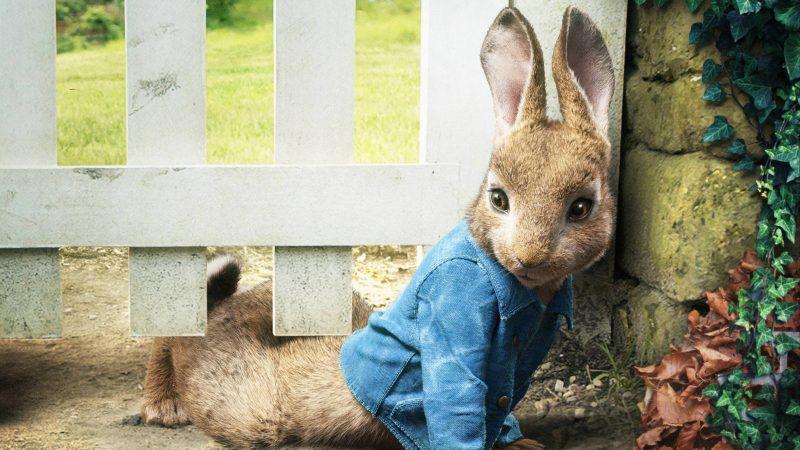 Scene from the film Peter Rabbit