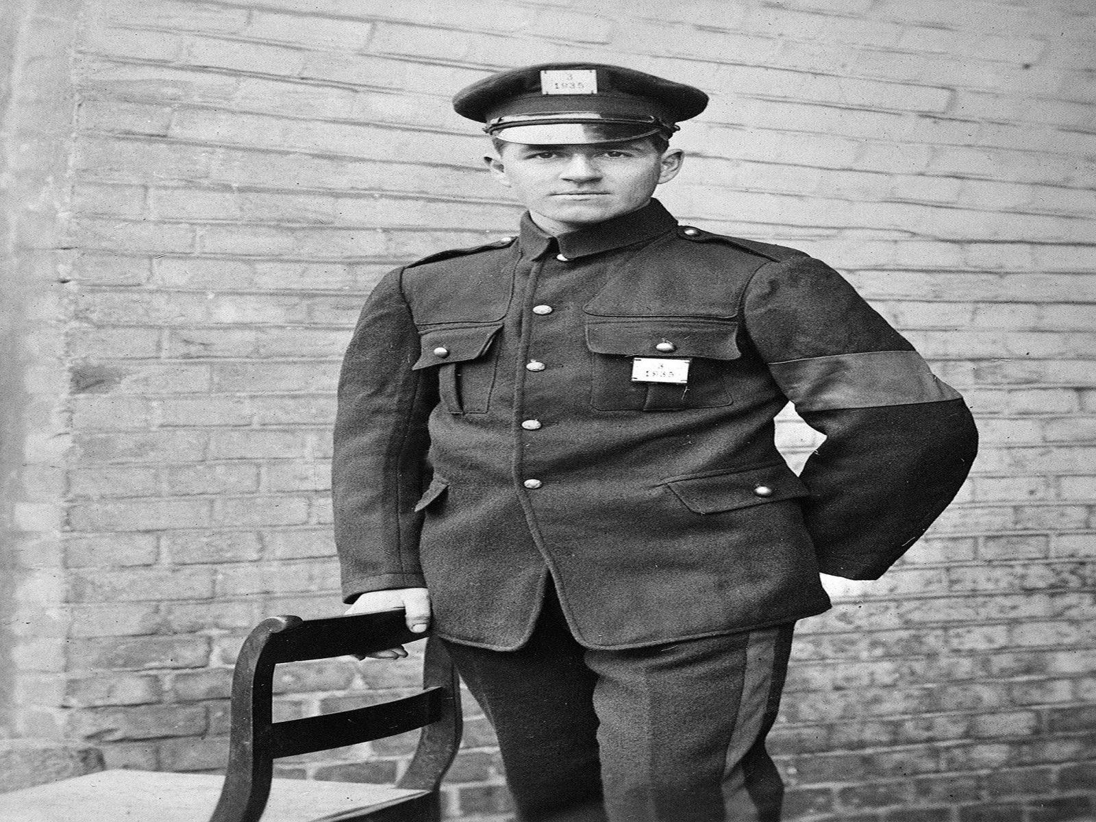 Australian prisoner-of-war Private Alfred Jackson, c. 1916–18. (P03236.030)