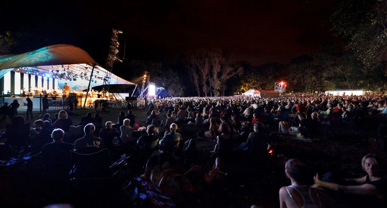People sitting in Commonwealth Park for Symphony inthe Park