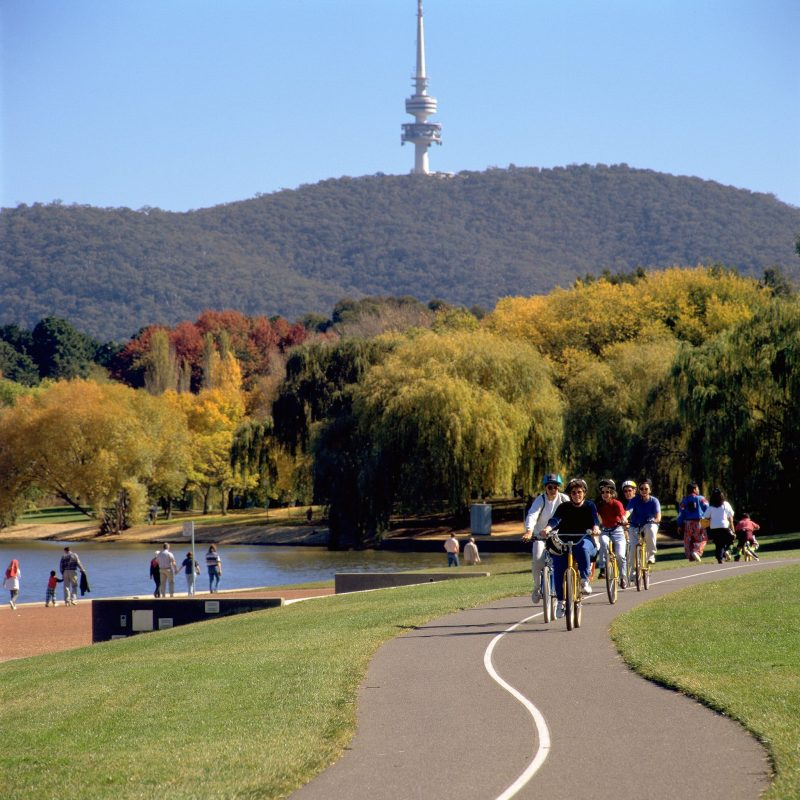 View of Telstra Tower from Lake Burley Griffin