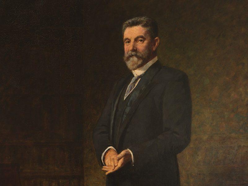 Portrait by Frederick McCubbin of Alfred Deakin, Second Prime Minister of Australia