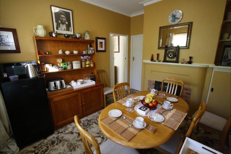 Dining room with fridge, microwave, tea and coffee making facilities