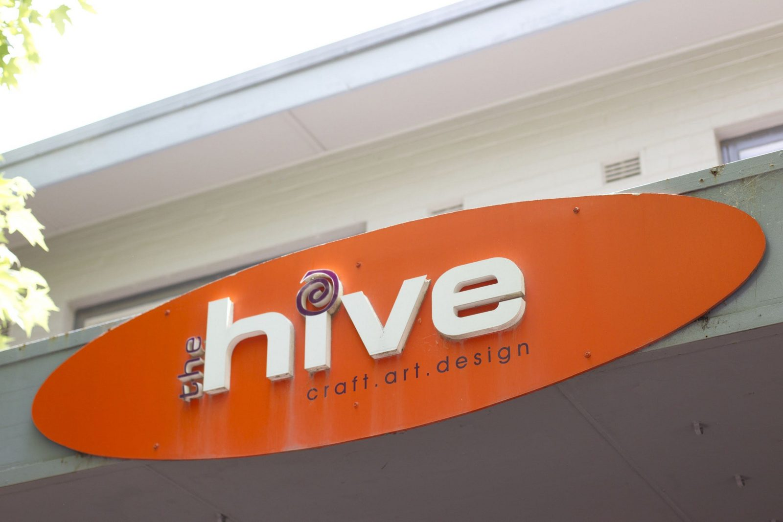 The Hive sign