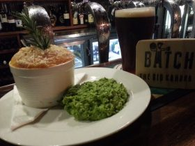 """Lamb and Rosemary pie with Batch Brewing """"Big Kahuna"""" Brown Ale"""